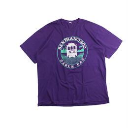 "San Francisco souvenir tshirts (Purple) ""CABLE CAR"""