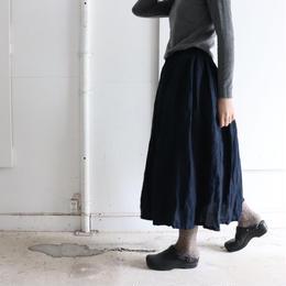 藍染 ギャザースカート