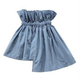 【 UNIONINI 18SS 】 asymmetry skirt / blue  / 80〜140cm   (SK-002)
