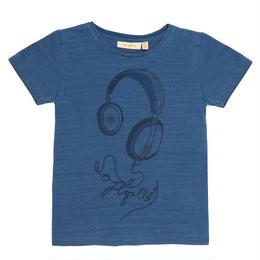 【 Soft Gallery 2018SS 】Bass T-shirt/ 259. Denim Wash, Headphones