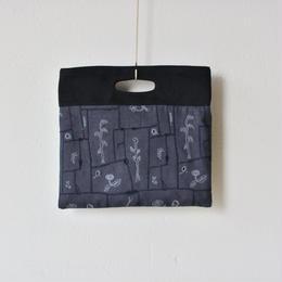 """【 ミナペルホネン 18SS 】 """" garden patchwork """" フラッグバッグ 小 / charcoal  (WS9197)"""