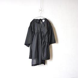【 UNIONINI 18SS 】 HOME blouse dress / black  / レディースサイズ   (OP-044)