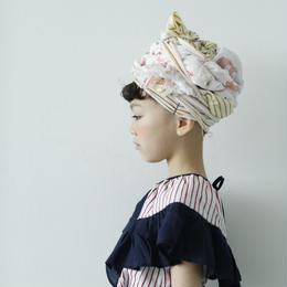 【 folk made 2018SS】No.7 flare stripe blouse / サックスレッド×ネイビー