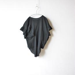 【 UNIONINI 18SS 】frill dress / black  / 90〜140cm   (OP-045)