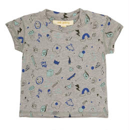 【 Soft Gallery 2018SS 】Baby Ashton T-shirt/ 011. Grey Melange, AOP Freestyle
