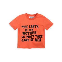 【 mini rodini 2018SS 】Mother earth ss tee/ orange