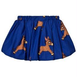 【 mini rodini 2018SS 】Donkey woven baloon skirt/ Blue