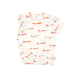 【 tiny cottons 2018SS 】SS18-007 bon appetit SS tee / off-white/carmin