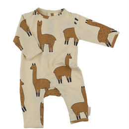 【tiny cottons 2017AW】AW17-037 llamas onepiece /beige / nude /6-12m