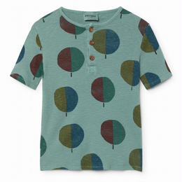 【 Bobo Choses 2018SS 】118024 Forest Buttons T-Shirt