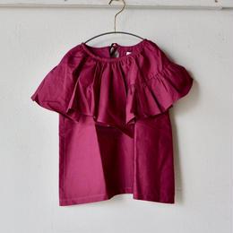 【 folk made 2018SS】No.21 flare blouse / ワイン