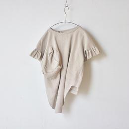 【 UNIONINI 18SS 】frill dress / brown  / 90〜140cm   (OP-045)