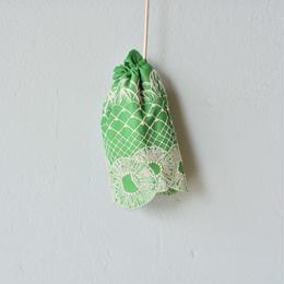 """【 ミナペルホネン 18SS 】 """"ananas """" ポシェット / green   (WS7782P)"""