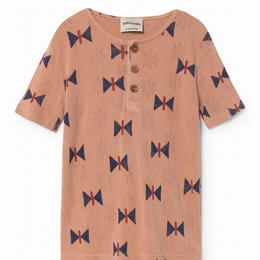 【 Bobo Choses 2018SS 】118023 Butterfly  Buttons T-Shirt