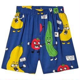 【 mini rodini 2018SS 】Veggie woven shorts/ Blue