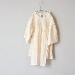 【 UNIONINI 18SS 】 HOME blouse dress / ecru  / 90〜140cm   (OP-044)