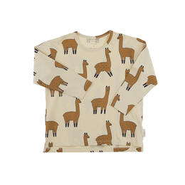 【tiny cottons 2017AW】AW17-040 llama ls relaxed tee / beige / nude