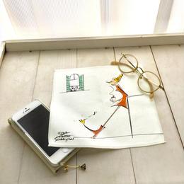 マイクロファイバー・アイグラスクリーニングクロス(メガネ拭き)【YUKI NAKAMURA  illustration】(鳥とコーヒー)