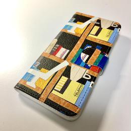 iphone 7 手帖型ケース【本】黒