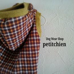 犬服★完成品【  クラシックチェック】 胴まわり38cm