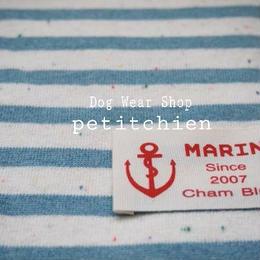 犬服★【marine~blue】胴回り30~38cm