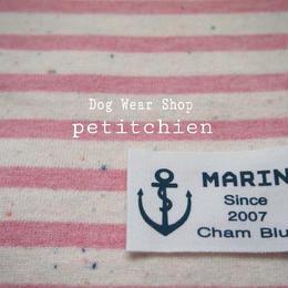 犬服★ 【marine~pink】胴回り30~38cm