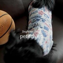 犬服 【ヴィンテージ】グレー 胴回り30~38cm