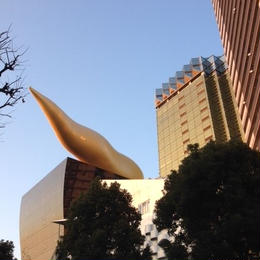 A golden monument in Asakusa
