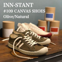 INN-STANT #109 CANVAS SHOES olive/natural