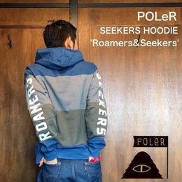 """POLeR """"SEEKERS HOODIE"""" Blue"""