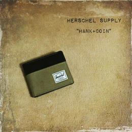 """Herschel """"HANK + coin""""  LEAD/BLK"""