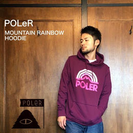 "POLeR ""MOUNTAIN RAINBOW HOODIE"" Grape"