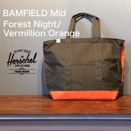 "Herschel ""BAMFIELD Mid"" Forest Night/Vermillion Orange"