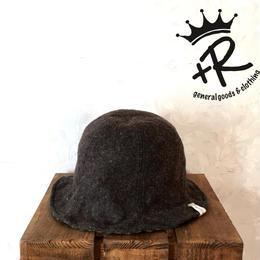 "+R ""リバーシブルチューリップハット"" Brown"