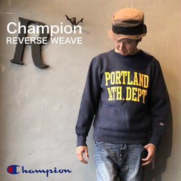 "Champion ""REVERSE WEAVE® 11.5oz CREW NECK SWEAT"" Dk.Navy"