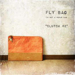 "FLY BAG ""CLUTCH #2"" Orange"