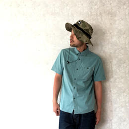 "POLeR ""WASHED UP S/S WOVEN"" Green"