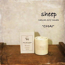 sheep SOY CANDLE chai S