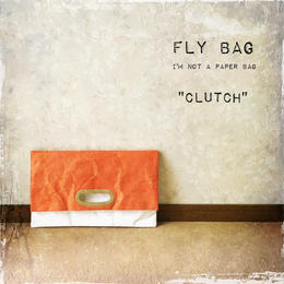 "FLY BAG ""CLUTCH"" Orange x White"