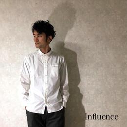 """Influence """"ブロードワイヤーシャツ"""" White"""