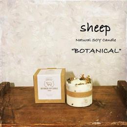 sheep SOY CANDLE botanical