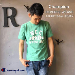"Champion REVERSE WEAVE ""T-SHIRT 9.4oz JERSEY""  M.Green"
