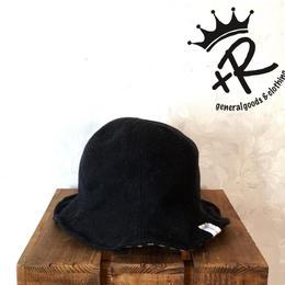 "+R ""リバーシブルチューリップハット"" Black"