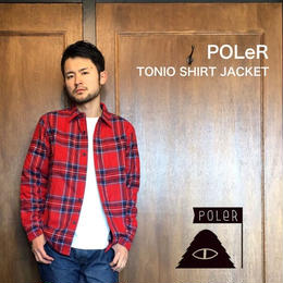 "POLeR ""TONIO SHIRT JACKET"" Reddish"