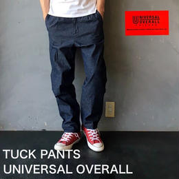 "UNIVERSAL OVERALL ""TUCK PANTS"" Indigo"