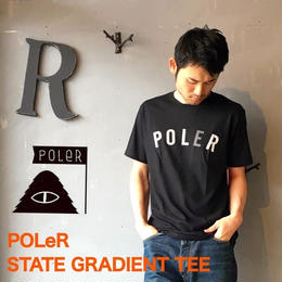 "POLeR ""STATE GRADIENT TEE"" Black"