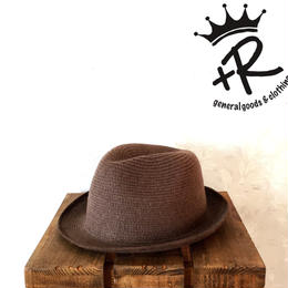 """+R """"センタークリースニットハット"""" Brown"""