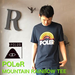 "POLeR ""MOUNTAIN RAINBOW TEE"" Navy"