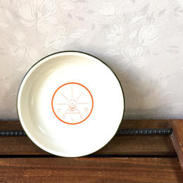 "POLeR ""GOLDEN CIRCLE ENAMEL PLATE"" Off White"