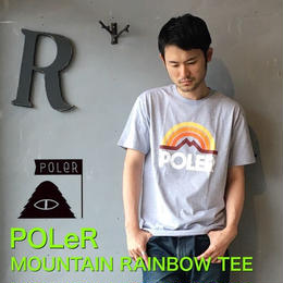 "POLeR ""MOUNTAIN RAINBOW TEE"" Gray Heather"